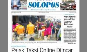 Halaman Depan Harian Umum Solopos edisi Rabu, 31 Januari 2018