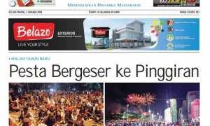 Halaman depan Harian Umum Solopos edisi Selasa, 2 Januari 2018.
