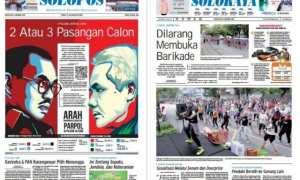 Harian Umum Solopos edisi Senin 8 Januari 2018
