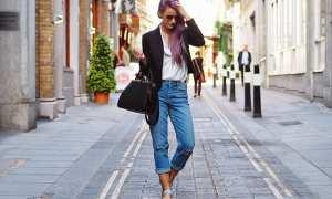 Ilustrasi memakai blazer dan tote bag (Pinterest)