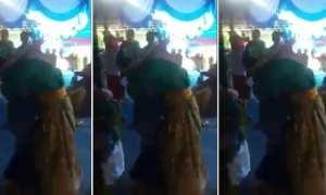 Mempelai pria memeluk perempuan yang diduga mantan pacar (Facebook)