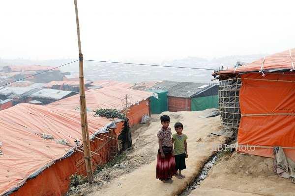 Pengungsi Rohingya di kamp pengungsian Palong Khali, Bangladesh. (JIBI/Solopos/Reuters/Tyrone Siu)