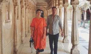 Raisa dan Hamish Daud di City Palace, India (Instagram @raisa6690)