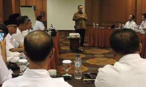 Sudirman Said bertemu dengan Persatuan Purnawirawan Indonesia Raya (PPIR) di Kota Semarang, Selasa (16/1/2018). (Okezone.com-Taufik Budi)