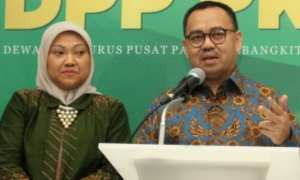 Calon gubernur Sudirman Said dan calon wakil gubernur Ida Fauziah saat deklarasi di Kantor DPP Partai Kebangkitan Bangsa (PKB), Jakarta, Selasa (9/1/2018). (JIBI/Solopos/Antara/Reno Esnir)