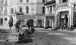 Tentara Jepang yang terlibat dalam Pertempuran Malaya di Kuala Lumpur. (Wikimedia.org)