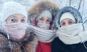 Tiga perempuan asal Yakutia dengan bulu mata membeku (Twitter)