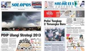 Harian Umum Solopos edisi Jumat, 5 Januari 2018.