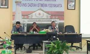 Video Conference Berita Resmi Statistik (BRS) di BPS DIY, Bantul, Selasa (2/1/2018). (Harian Jogja/Holy Kartika N.S)