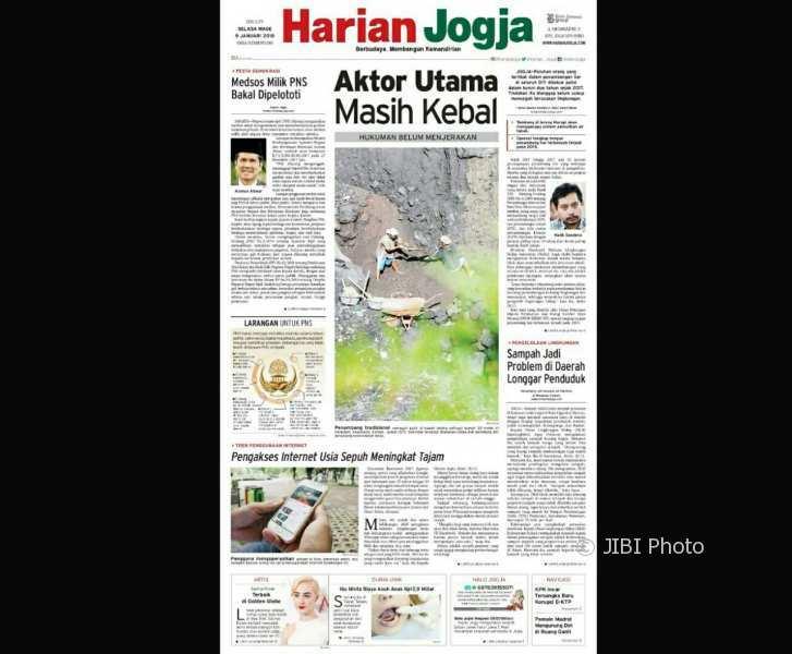 Harian Jogja hari ini edisi Selasa (9/1/2018). (Harian Jogja/Kusnul Isti Qomah)