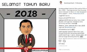 Ucapan doa Wali Kota Semarang Hendrar Prihadi menyambut Tahun Baru 2018. (Instagram-@hendrarprihadi)