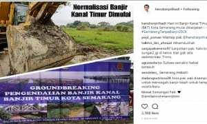 Pernyataan Wali Kota Semarang Hendrar Prihadi tentang peresmian ground-breaking Sungai Banjir Kanal Timur, Kota Semarang, Jateng, Jumat (5/1/2018). (Instagram-@hendrarprihadi)
