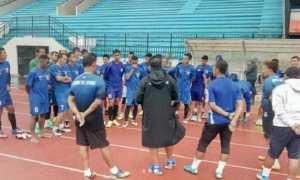 Pemain PSIS Semarang berlatih di Stadion Moch. Soebroto, Magelang, Jateng, Sabtu (6/1/2018). (Instagram-@psisfcofficial)