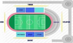Denah tempat duduk bagi suporter pada laga uji coba antara PSIS Semarang dan Arema FC di Stadion Moch. Soebroto, Kota Magelang, Jateng, Minggu (7/1/2018) sore. (Instagram-@psisfcofficial)
