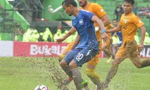 Pertandingan antara PSIS Semarang dan Bhayangkara FC di Stadion Gajayana, Kota Malang, Jatim, Sabtu (20/1/2018) sore. (Liga-indonesia.id)