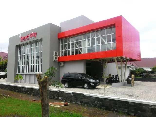 Gedung Smart City Center berdesain modern berada di kompleks kantor Dinas Komunikasi dan Informasi (Diskominfo) Boyolali ini akan resmi dioperasikan pada peluncuran yang rencananya dilakukan 14 Februari 2018. Foto diambil Senin (5/2/2018). (Akhmad Ludiyanto/JIBI/SOLOPOS)