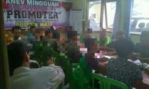 Siswa SMP Kerjo Karanganyar dimediasi di Polsek Kerjo, Kamis (8/2/2018). (Istimewa/Agus Priyanto)