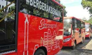 Bus Rapid Transit (BRT) Trans Semarang yang baru mulai dioperasikan di Koridor II, Kamis (8/2/2018). (JIBI/Semarangpos.com/Istimewa-BLU BRT TRans Semarang)