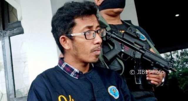Eko Riyanto alias John, 28, pengedar 4 kg sabu-sabu dari Kopeng, Kabupaten Semarang, Jateng. (JIBI/Solopos/Antara/R. Rekotomo)