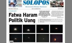 Halaman Depan Harian Umum Solopos edisi 1 Februari 2018