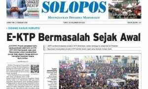 Harian Umum Solopos edisi Jumat, 2 Februari 2018