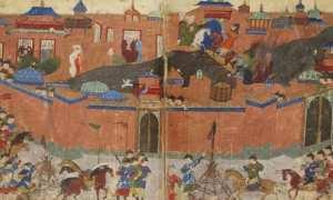 Ilustrasi pengepungan Bagdad yang dilakukan pasukan Mongol, 1258. (Wikimedia.org)