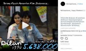 Jumlah penonton film Dilan 1990 (Instagram @falconpictures_)