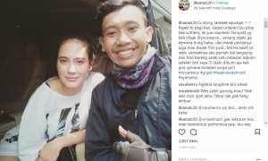 Kisah sopir ojol dapat pesanan dari Pevita Pearce (Instagram @ilhamdc20)