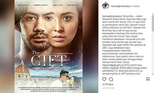 Poster film The Gift (Instagram @hanungbramantyo)