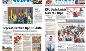 Harian Umum Solopos edisi hari ini, Sabtu, 3 Februari 2018.