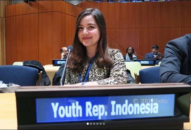 Tasya Kamila saat menghadiri forum pemuda PBB di New York (Instagram @tasyakamila)Tasya Kamila saat menghadiri forum pemuda PBB di New York (Instagram @tasyakamila)