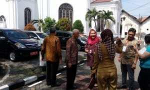 Wakil Wali Kota Semarang, Hevearita G. Rahayu, saat berjumpa perwakilan UNESCO di kawasan Kota Lama, Semarang, Senin (26/2/2018). (JIBI/Semarangpos.com/Imam Yuda S.)