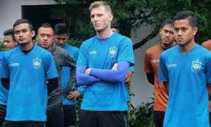 Beberapa pemain PSIS Semarang berlath di Bandungan, Kabupaten Semarang, Jateng, Minggu (4/2/2018). (Instagram-@psisfcofficial)