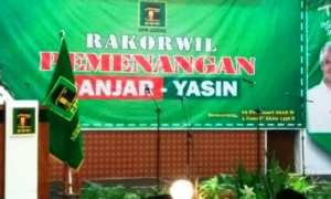 Ketua Umum PPP M. Romahurmuziy menyampaikan pidato pada Rakorwil Pemenangan Ganjar-Yasin di Semarang, Jateng, Senin (19/2/2018). (JIBI/Solopos/Antara/Wisnu Adhi N.)