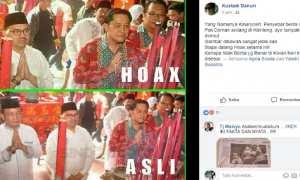 Penyangkalan Wakil Ketua DPW PAN Jateng Bidang Komunikasi dan Kebijakan Publik Kustadi Danuri terkait foto Sudirman Said yang beredar. (Facebook.com-Kustadi Danuri)
