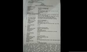 Surat laporan Briptu Erlangga Hananda Seto kepada Polres Kudus. (Facebook.com-Norma)