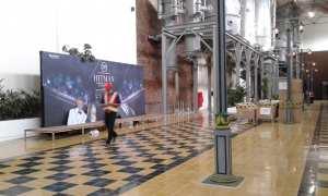 Salah satu photo booth konser Hitman David Foster and Friends di gedung De Tjolomadoe, Colomadu, Karanganyar. (Ika Yuniati/JIBI/Solopos)