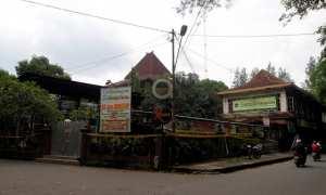Garis pembatas terpasang di Cafedangan, Manahan, Banjarsari, Solo, Jumat (2/3/2018). (Nicolous Irawan/JIBI/Solopos)