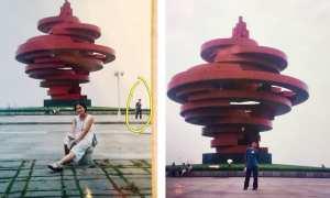 Foto Xue (kiri) 10 tahun sebelum kenal calon suaminya Ye (kanan) (Weibo)