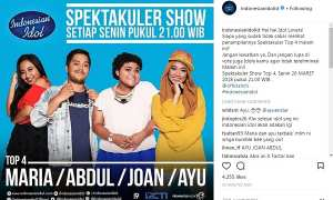 Poster babak top 4 Indonesian Idol 2018 (Instagram @indonesianidolid)