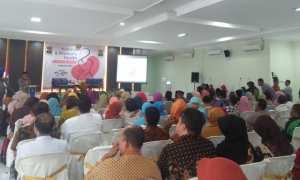 Puluhan orang mengikuti acara peringatan Hari Perempuan dan Hari Ginjal Sedunia di RSUD Kota Madiun, Kamis (8/3/2018). (Abdul Jalil/JIBI/Madiunpos.com)