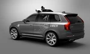 Konsep mobil swakemudi Uber dan Voldo. (Istimewa)