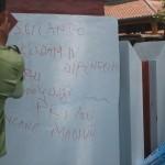 Wardoyo dihujat melalui vandalisme di tembok Balaidesa Mulur
