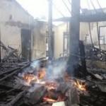 Rumah Jagal Kartasura terbakar