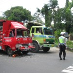 Tiga truk di Wonogiri terlibat kecelakaan karambol