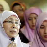 Wan Azizah Wan Ismail, istri Anwar Ibrahim. (Reuters-Bazuki Muhammad)