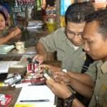 Tim gabungan operasi rokok ilegal di Sragen