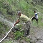 INFRASTRUKTUR BOYOLALI : Tebing Longsor, Jaringan Pipa Air Bersih di Kali Apu Hancur