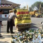 Polres musnahkan 4.000 botol Miras
