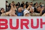 UNJUK RASA: Buruh Serbu Jakarta, Arus Lalu Lintas Dialihkan